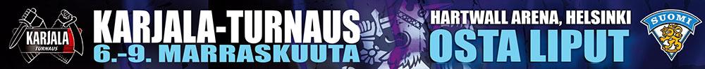 Karjala-turnauksen liput nyt myynnissä