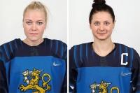 Noora Räty ja Jenni Hiirikoski olympialaisten All Star -kentälliseen