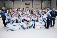 A-tyttöjen SM-turnauksen 2017 parhaat joukkueet mitalikuvissa