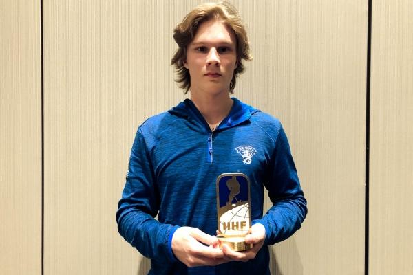 Aleksi Heimosalmi palkittiin poikien MM-kisojen parhaana puolustajana